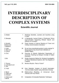 "ZNANSTVENI ČASOPIS ""INTERDISC. DESCRIP. OF COMPLEX SYSTEMS"""